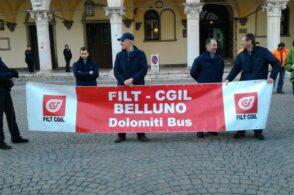 Sciopero nazionale, anche a Belluno autobus e corriere si fermano
