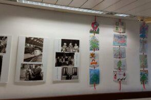 I bambini, i loro disegni e quel filo che li unisce agli anziani della Geriatria