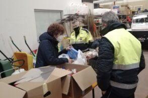 Pacchi alimentari per Belluno Donna: la Protezione Civile non si ferma a Natale