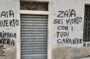 Minacce di morte a Zaia e ai Carabinieri: scritte shock a Cesiomaggiore
