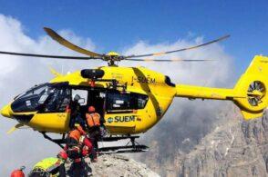 Malore in casera per una donna di 60 anni: interviene l'elicottero