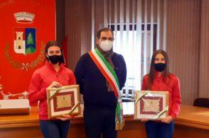 Sportive dell'anno: il Comune premia le ginnaste Teodora e Vittoria David