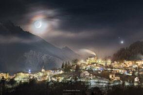 La Nasa a Pieve: una foto cadorina per spiegare la corona lunare