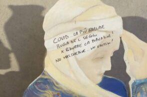 Presepio sfregiato da scritte negazioniste: «Covid, bugia del secolo»