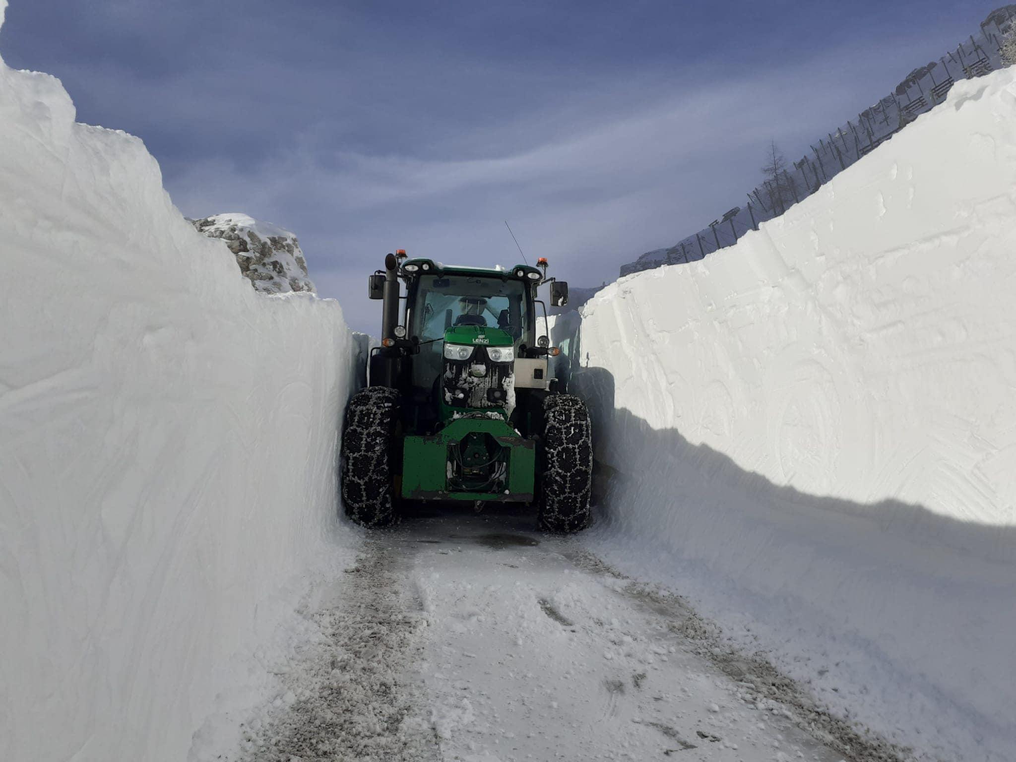 7 metri di neve in tutto l'inverno. Non è record, ma quasi