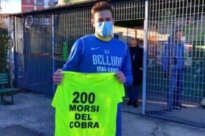 Cobra da leggenda: 200 gol in carriera. E il Belluno rimonta l'Este
