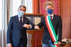 Il nuovo prefetto Savastano in visita a Palazzo Rosso e Palazzo Piloni: «Buon lavoro»