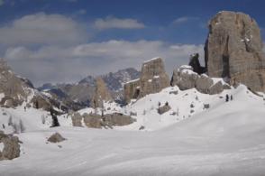 Maltempo: coda d'inverno con la neve, ad Arabba -6