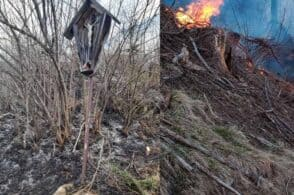 Spento l'incendio a Pozzale: il crocifisso si salva dalle fiamme
