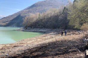 Via i detriti dal lago di Santa Croce, la Provincia brucia le tappe